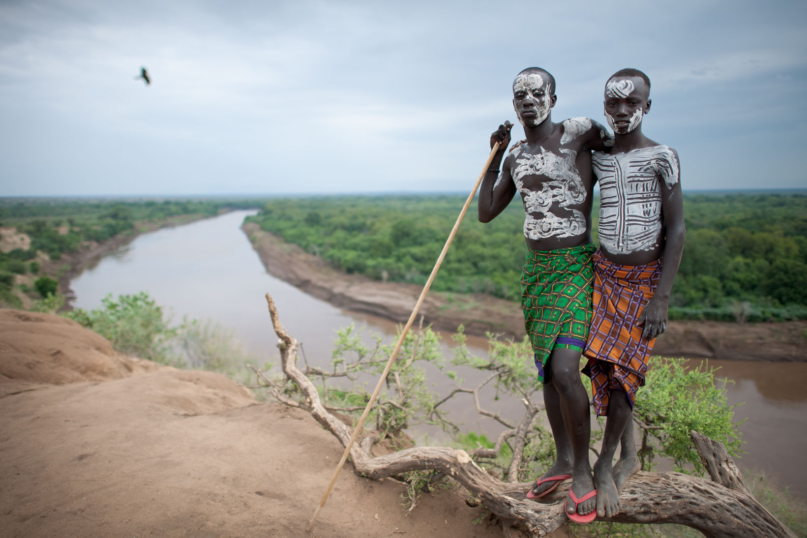 Karo tribal youth - Omo River Valley, Ethiopia