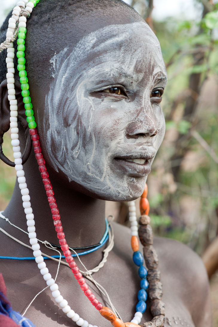 Mursi tribal woman